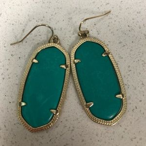 Kendra Scott Gold and Turquoise Danielle Earrings